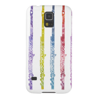 Rainbow of Flutes Cases For Galaxy S5
