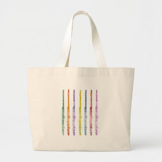 Rainbow of Flutes Large Tote Bag