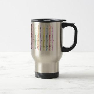 Rainbow of Flutes Travel Mug