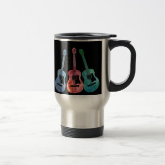 Rainbow of Guitars Travel Mug
