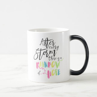 Rainbow Of Hope Colour Changing Mug, Rainbow Magic Mug