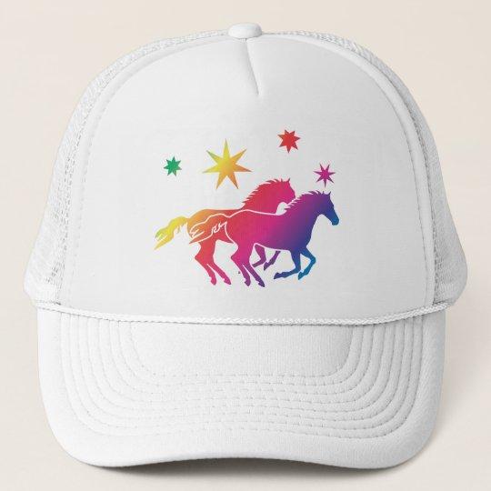 Rainbow of horses cap