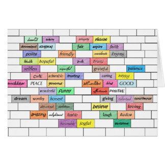 Rainbow of Inspirational Graffiti Card