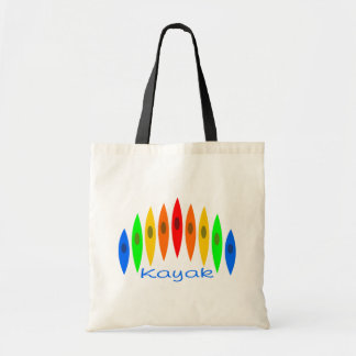 Rainbow of Kayaks Budget Tote Bag