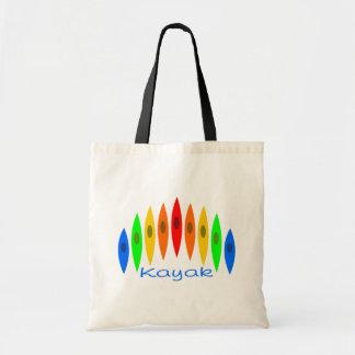 Rainbow of Kayaks Budget Tote Bag