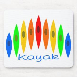 Rainbow of Kayaks Mouse Mat