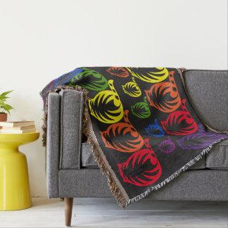 Rainbow of Kitties Design Throw Blanket