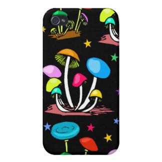 Rainbow Of Mushrooms Cases For iPhone 4