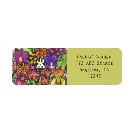 Rainbow of Orchids Avery Label