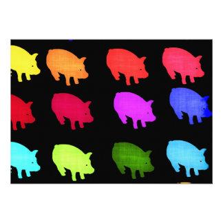 Rainbow Of Piggies Custom Announcements