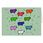 Rainbow Of Sheep Card
