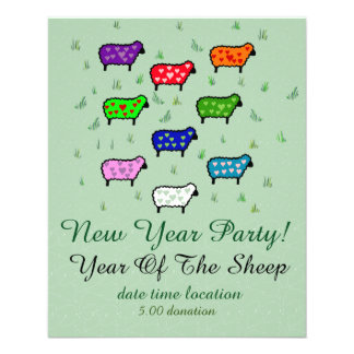 Rainbow Of Sheep Custom Flyer
