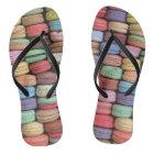 Rainbow of Stacked French Macaron Cookies Flip Flops