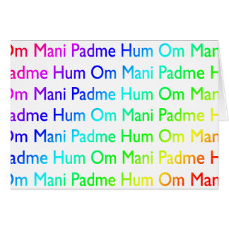 Rainbow Om Mani Padme Hum Greeting Card