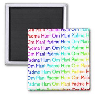 Rainbow Om Mani Padme Hum Magnets