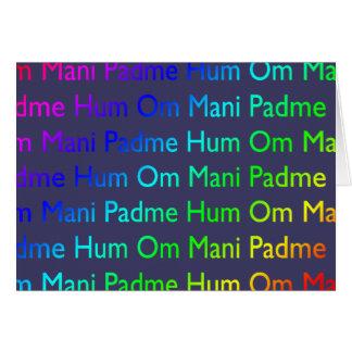 Rainbow Om Mani Padme Hum on Purple Card