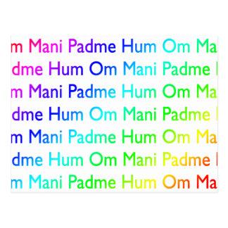 Rainbow Om Mani Padme Hum Postcard