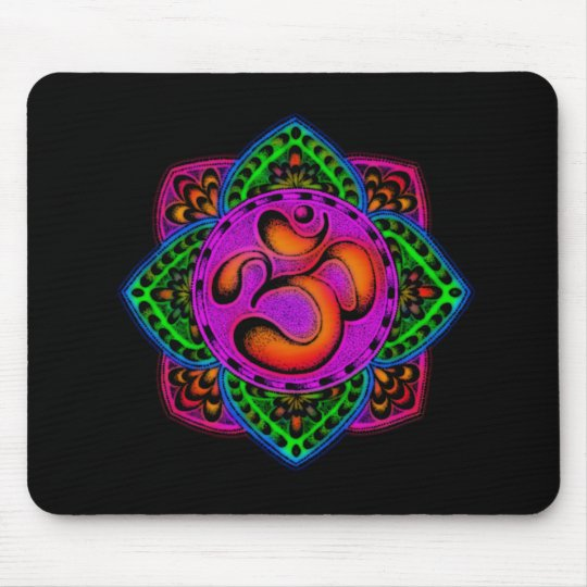 rainbow om mantra mouse pad
