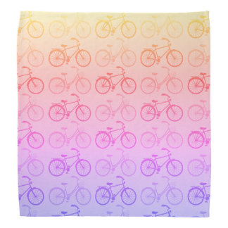 Rainbow Ombre Bicycles Bandana