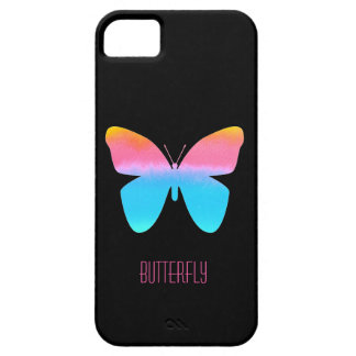 Rainbow Ombre Butterfly iphone case Custom iPhone 5 Cases