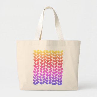 Rainbow Ombre knitting bag