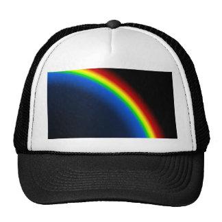Rainbow on black cap
