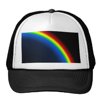 Rainbow on black hat