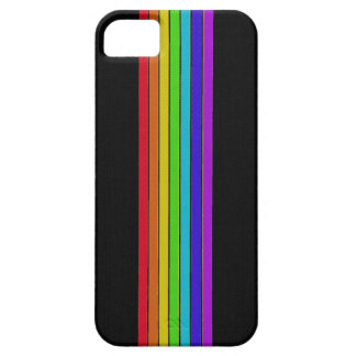 Rainbow on Black iPhone 5 Case