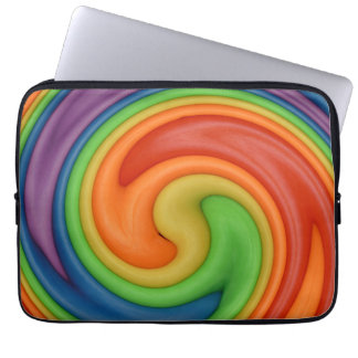 Rainbow on Spin Cycle Laptop Sleeve