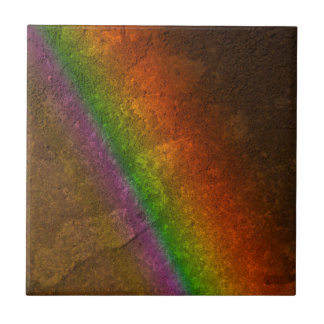 Rainbow On Stone Tile