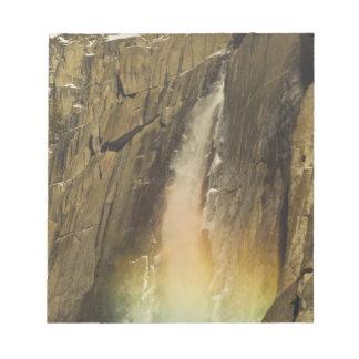 Rainbow on Upper Yosemite Falls in Yosemite Notepad