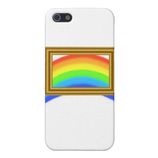 Rainbow on White iPhone 5 Cases
