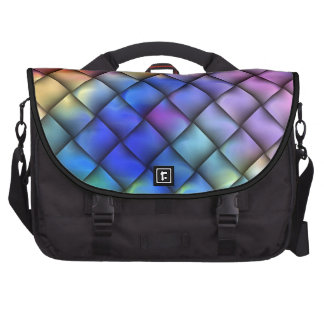 Rainbow optical illusion bags for laptop