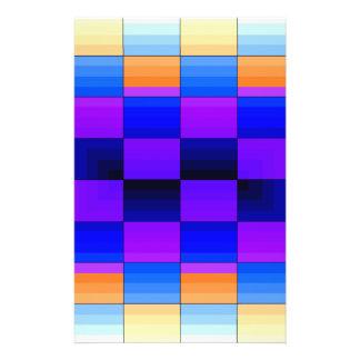 Rainbow Optical Illusion Spectrum Color Chessboard 14 Cm X 21.5 Cm Flyer