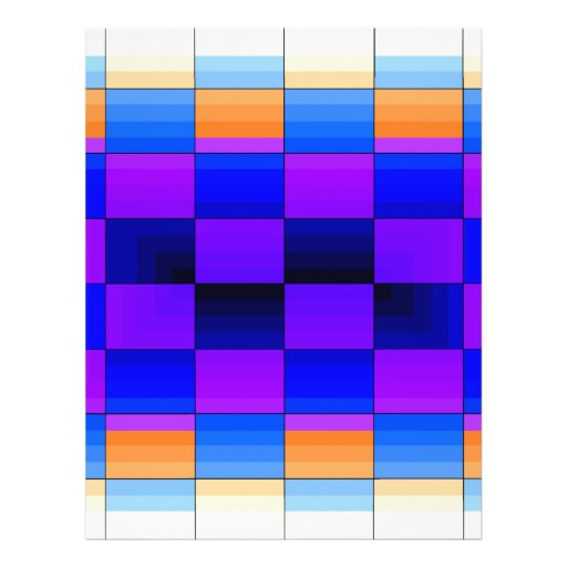 Rainbow Optical Illusion Spectrum Color Chessboard Full Color Flyer