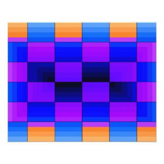 Rainbow Optical Illusion Spectrum Color Chessboard 11.5 Cm X 14 Cm Flyer