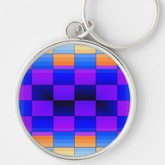 Rainbow Optical Illusion Spectrum Color Chessboard Key Chains