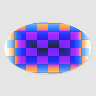 Rainbow Optical Illusion Spectrum Color Chessboard Sticker