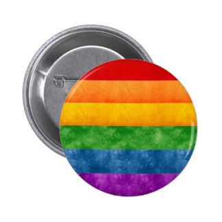 Rainbow or Gay Pride Flag 6 Cm Round Badge