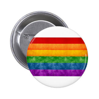 Rainbow or Gay Pride Flag 6 Cm Round Badge