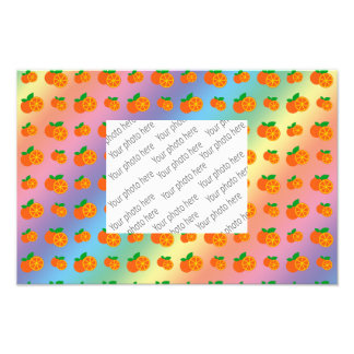Rainbow oranges pattern art photo