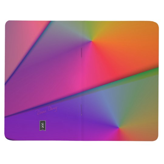 Rainbow Origami, Abstract Indigo Magenta Swirls Journals