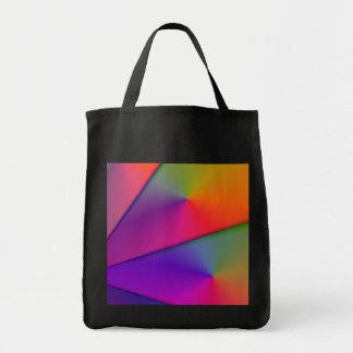 Rainbow Origami – Indigo & Magenta Swirls Grocery Tote Bag