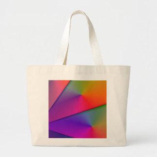 Rainbow Origami – Indigo & Magenta Swirls Jumbo Tote Bag