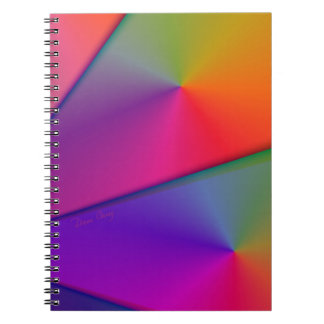 Rainbow Origami – Indigo & Magenta Swirls Notebook