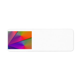 Rainbow Origami – Indigo & Magenta Swirls Return Address Label