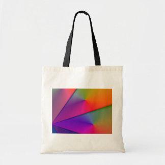 Rainbow Origami – Indigo & Magenta Swirls Budget Tote Bag