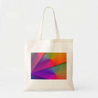 Rainbow Origami – Indigo Magenta Swirls Tote Bags