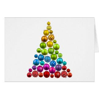 Rainbow Ornament Christmas Tree Card
