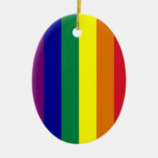 Rainbow Oval Ornament